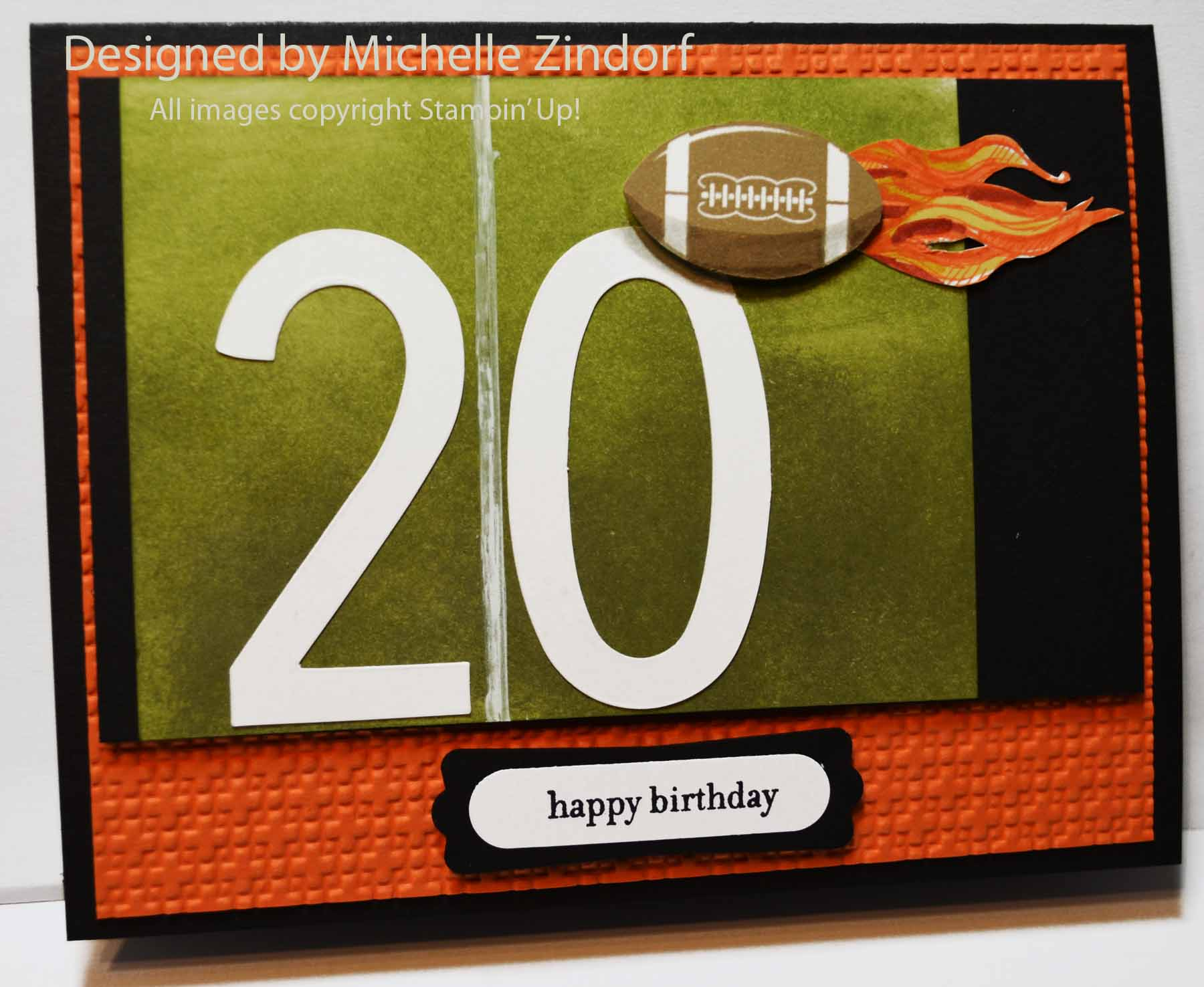 Football Fan Stampin Up Card