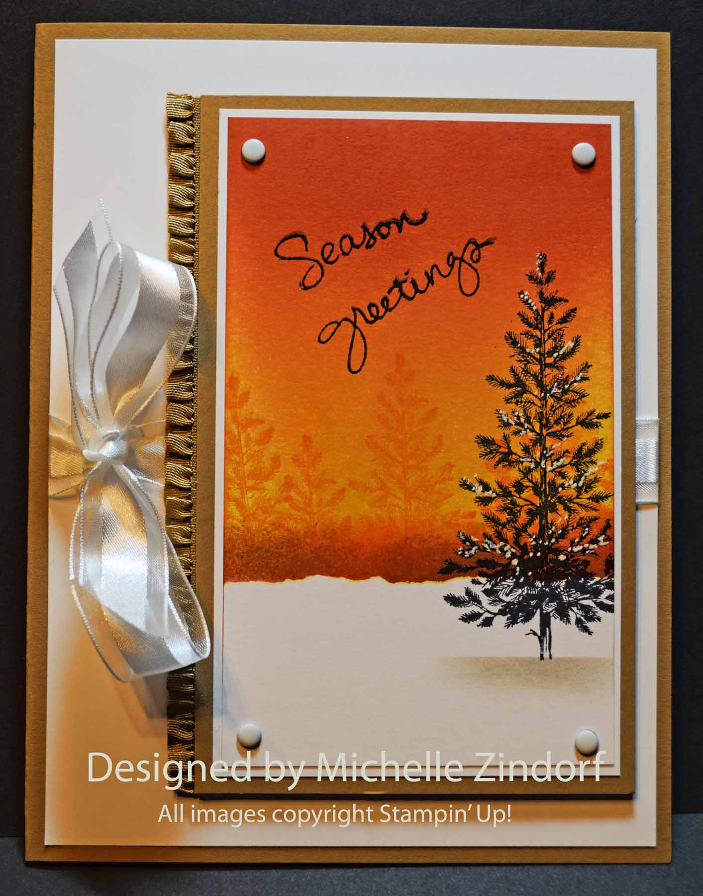 Sunset Christmas – Stampin\' Up! Card |