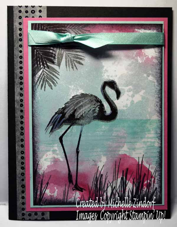 Smooshed Ink Flamingo