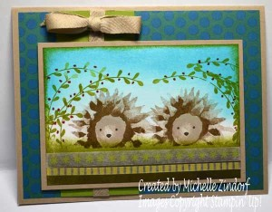 Painted Harvest Hedgehogs