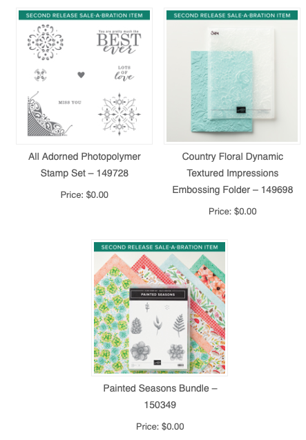 Sale-a-bration Update – New items! |