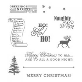 Greetings from the north pole stampin up card greetings from santa clear mount stamp set m4hsunfo