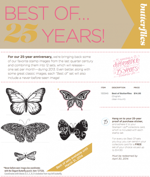 stampin up best of april butterflies